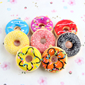 12pcs New Kids Toys Colorful Donut Squishy Donuts Bread Strap Decoration Toy Gifts Wholesale Squishies Free Shipping PS-098