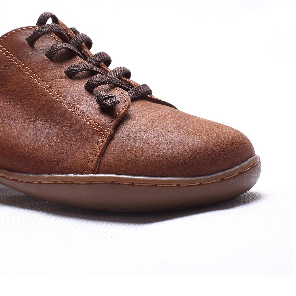 (35-46) femmes Chaussures Plates 100% Cuir Authentique Plaine toe Lace up Dames Chaussures Appartements Femme Mocassins Femme Chaussures (5188- 6) - 3