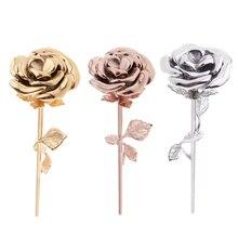 Rvs Hollow Rose Bloem As Urn Crematie Sieraden Gedenkteken Aandenken, of Houd Het Haar Of Parfum Of Loving Brief