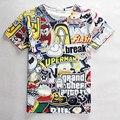 Мультфильм 3D футболки смешно каваи superman перерыв флэш письмо печатные футболки женщины/мужчины аниме майка майки топы плюс размер S-XXL