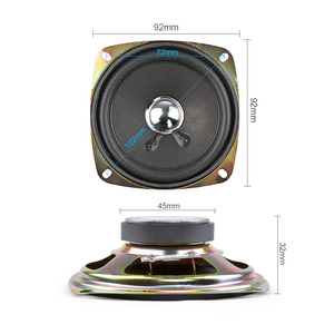 Image 2 - AIYIMA 2 adet 3.5 inç taşınabilir hoparlörler 4Ohm 8W tam aralık müzik ses hoparlörü sütun hoparlör DIY ev sineması için