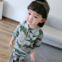 2016 autumn winter kids clothing sets BOYS crocodile hoodies+pants 2 pcs sweatshirt sports suits kikikids bobo choses KIKIKIDS