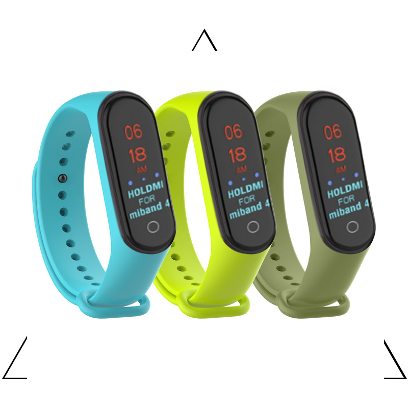 Colorful Mi band 4 Wristband accessories pulseira miband 4 strap replacement silicone Wriststrap for xiaomi mi4 smart bracelet in Smart Accessories from Consumer Electronics