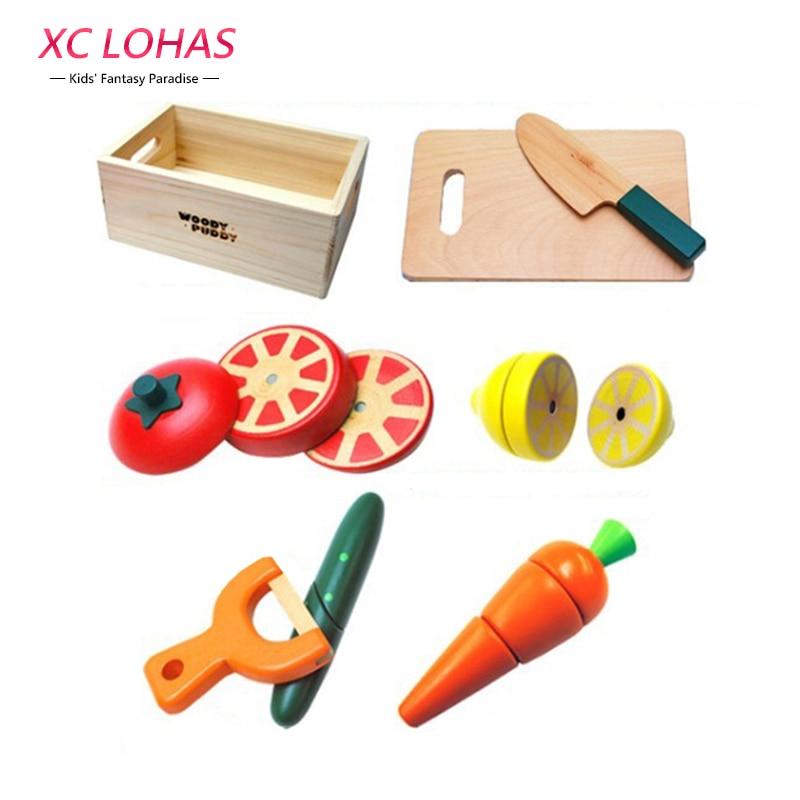Cheap enfants bois simulation magntique cuisine jouets set for Cuisine simulation en ligne