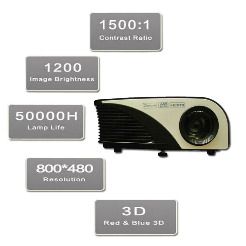 Proyector 1200 Lumens RD-805B Mini LCD LED 3D HDMI USB Projector Home Theater Cinema Video Game Movie Beamer Projecteur Projetor mini digital smart led projector home cinema theater korean projection machine hdmi vga usb port beamer proyector