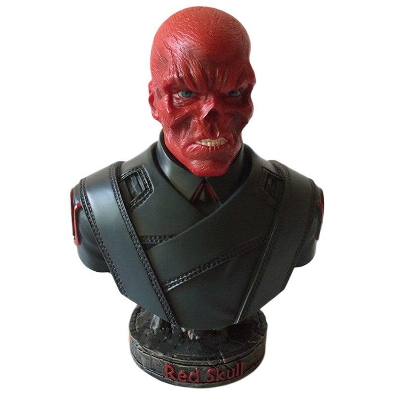 Agents du S.H.I.E.L.D. NAZIHYDRA supervilain crâne rouge buste Johann Shmidt PVC figurine modèle jouet L2380