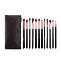 MSQ 12pcs Eyeshadow Makeup Brushes Set Pro Rose Gold Eye Shadow Make Up Brushes Soft