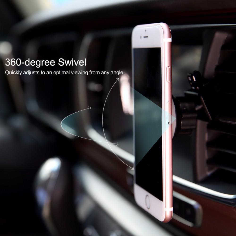 SKAŁA Obrotowy Uchwyt Magnetyczny Uchwyt Na Telefon Samochodowy Air Vent Outlet Magnes Uniwersalny Uchwyt Telefonu komórkowego Dla iphone Samsung stojak 6