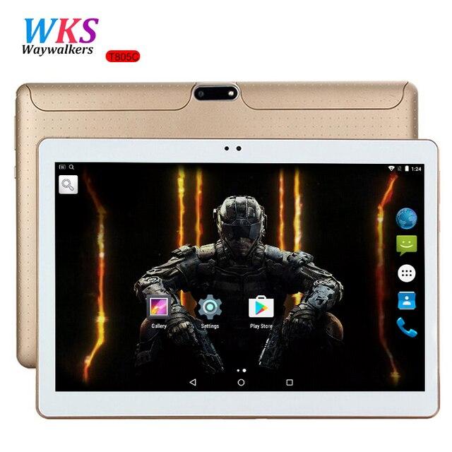 10 дюймов Tablet PC Octa core android 7.0 4 ГБ Оперативная память 64 ГБ Встроенная память 8 core dual sim карты GPS bluetooth-телефону подарки середине Планшеты 10 10.1