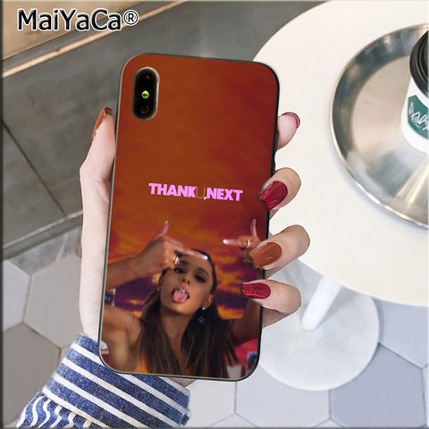 MaiYaCa Thank U, Next Ariana Grand TPU black Phone Case Cover Shell for Apple iPhone 8 7 6 6S Plus X XS MAX 5 5S SE XR Cover Islamabad