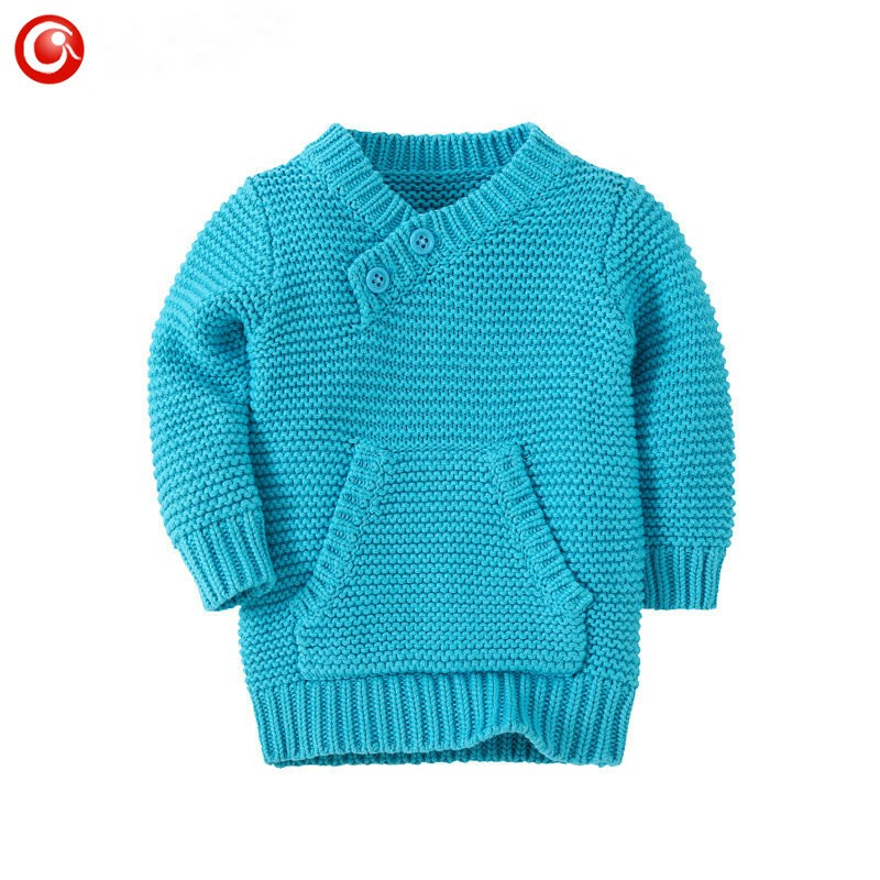 9M-4Y Knitting Pattern Baby Infant Cardigan With Pocket Kids Boys Cotton Sweater Clothes Children Girls Long Sleeve Soft Jumper (4)