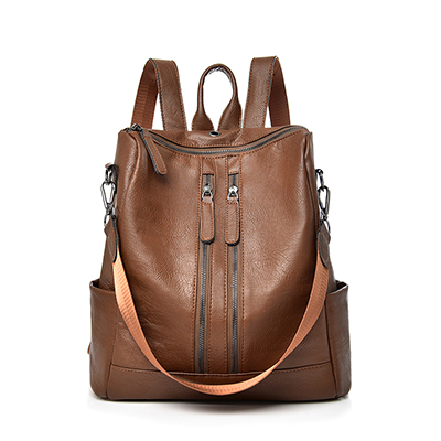 Saiten 2018 New PU Leather Women Backpack Casual School Backpack For Teenager Girl Large Capacity Multifunction Backpack Mochil