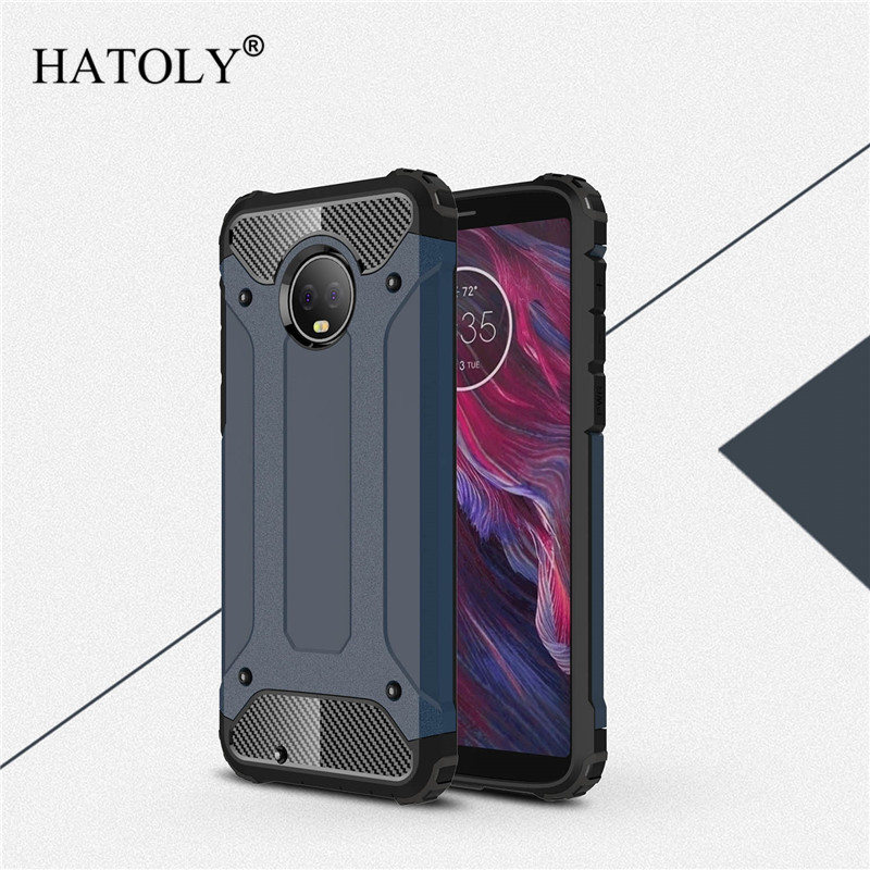 For Cover Motorola Moto G6 Case Anti-knock Rugged Armor Hard Case For Moto G6 Silicone Rubber Phone Bumper Cover For Moto G6