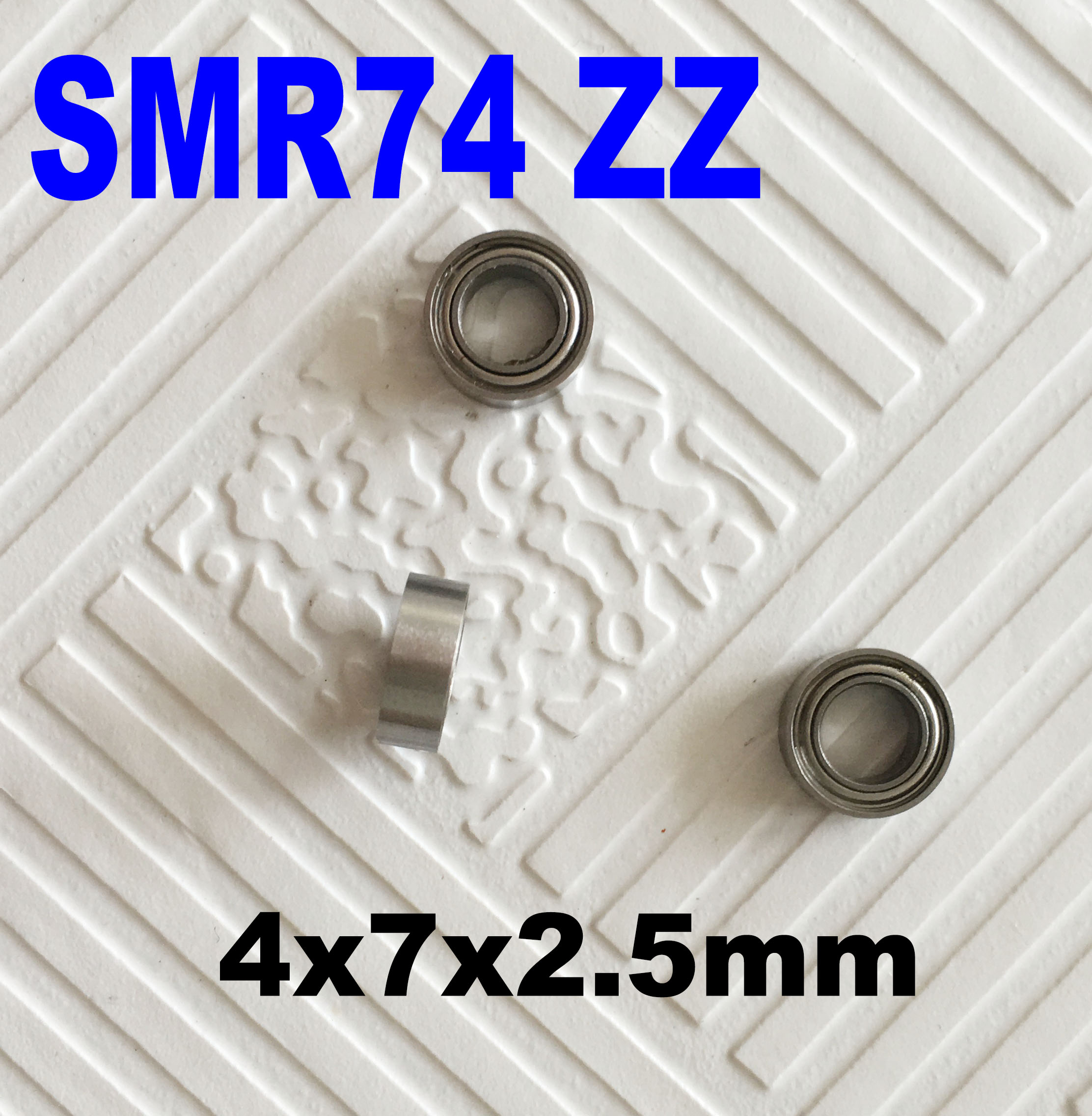 Free shipping 6 PCS SMR74ZZ Bearing 4x7x2.5 Stainless Steel Shielded Miniature Ball Bearings DDL-740ZZ S674ZZ B674ZZ WA674ZZ free shipping s6811 zz stainless steel shielded miniature ball bearings s6811zz size 55 72 9mm