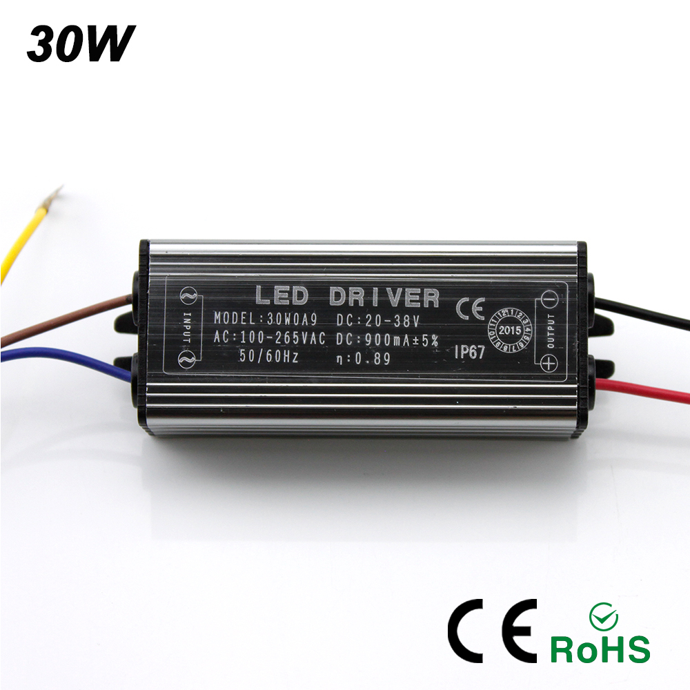 Image 3 - 2017NEW LED Drive 10W 20W 30W 50W LED Driver Adapter Transformer AC100V 265V to DC20 38V Switch Power Supply IP67 For Floodlight-in Lighting Transformers from Lights & Lighting