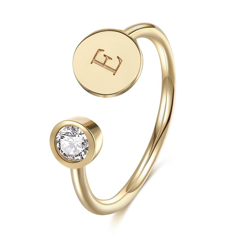 DUOYING Marke AZ Ersten Buchstaben Ring Einstellbarer Größe Offenen Ring Eingraviert Strass Hochzeit Ring Für Etsy Amazon