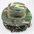 14 colores de Verano Hombres Mujeres Camuflaje Pesca Pescador Sombrero Del Cubo de la cadena con Tapa chapeu Sombrero Panamá sombrero de safari de Pesca de La Carpa