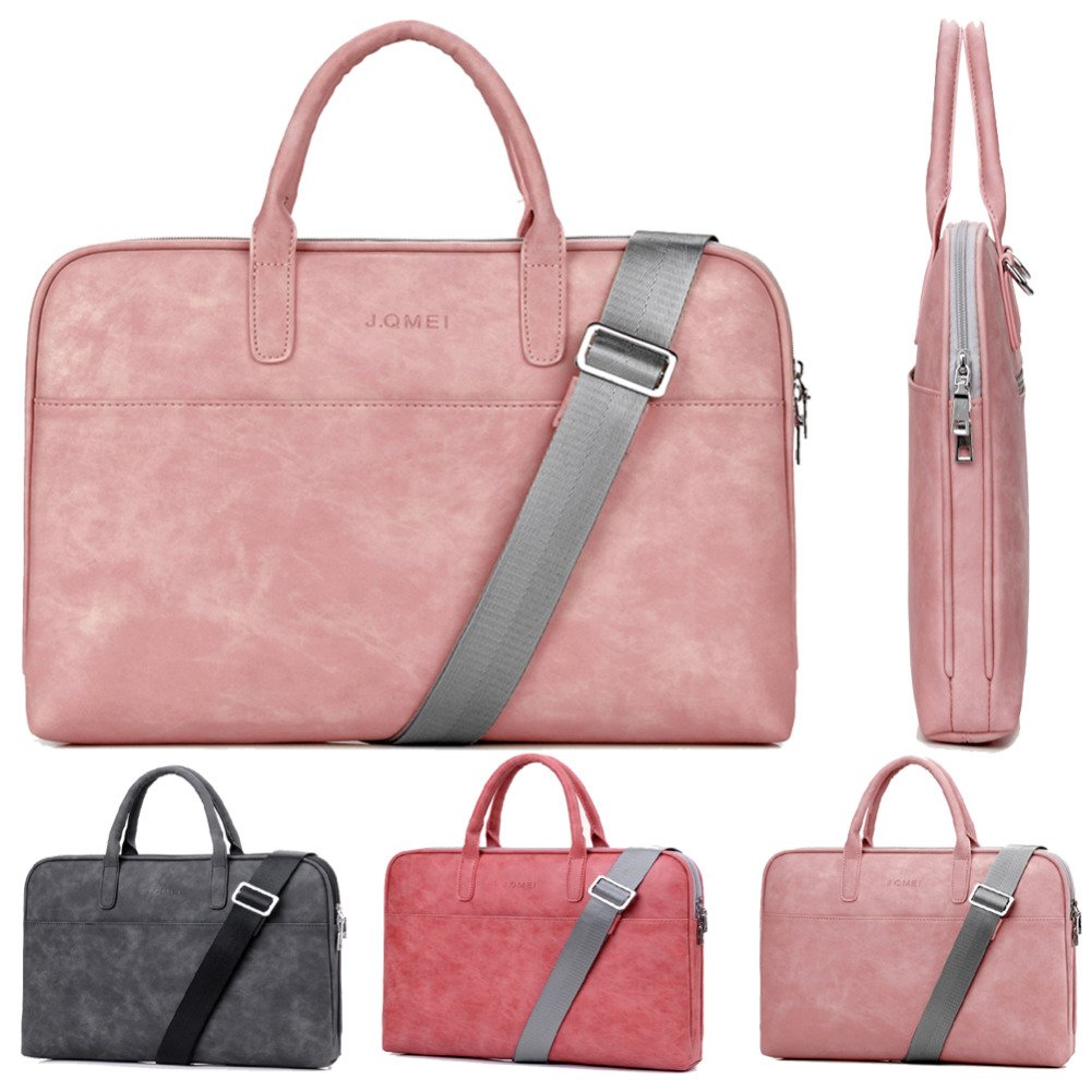 Retro PU 13 13.3 14 15 15.6 17 17.3 Inch Laptop Notebook Tablet Bag Bags Case Messenger Shoulder Sleeve for Men Women Student