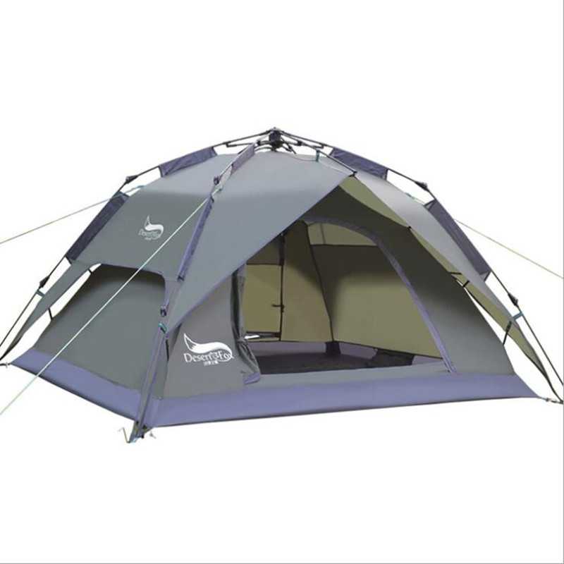 Outdoor 4 person automatic camping tent easy to build double layers rainproof auto quick construction one second fast tente high quality outdoor 2 person camping tent double layer aluminum rod ultralight tent with snow skirt oneroad windsnow 2 plus
