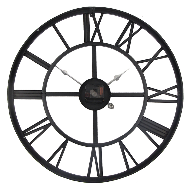 High Quality 45cm 50cm Large Wall Clock Metal Industrial Iron Gear Retro Clock Watch 3D Clocks Relogio Horloge murale
