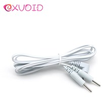 EXVOID Electrical Accessories 2 Head Needle And Thread Electric Shock Therapy Massage 2 Pin Cable Wire Adult Sex Toys for Couple