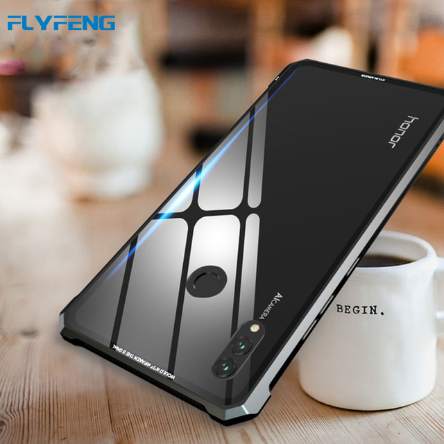 best service 2fefb 0e6fd US $13.69 20% OFF Luxury Metal Frame Hard Tempered Glass Cases For Huawei  Honor Note 10 Case Transparent Glass Back Cover For Honor Note 10 Note10-in  ...
