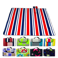 200*200CM Beach Mat Blanket Outdoor Beach Cushion Camping Multiplayer Foldable Baby Climb Plaid Waterproof Picnic Sand Free Mat