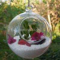 Free Shipping Betty Store Diameter = 8cm 8pcs/pack Glass Ball Terrarium with a little Top Open Beautiful Wedding Decorative