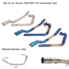 Silp on for Suzuki GSX150R Motorcycle Full Connecting Pipe Modified 51mm Header Exhaust Silencer System