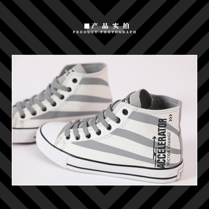 Image 4 - Anime To Aru Majutsu no Index Accelerator Cosplay Canvas Shoes Unisex Student Couples Casual High Top Sports shoes