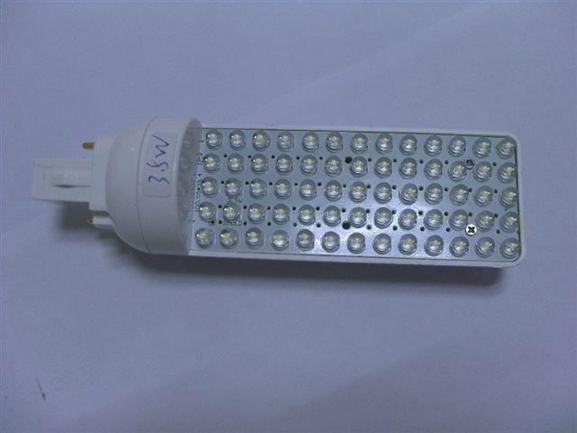 G24 Base LED Bulb;65pcs 5mm led;3.5W;size:43mm*153mm;325lm,P/N:HA015D