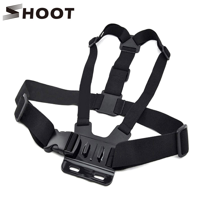SHOOT Adjustable Harness Mount Chest Strap For Gopro Hero 4 3 Session SJCAM SJ4000 SJ5000 Xiaomi