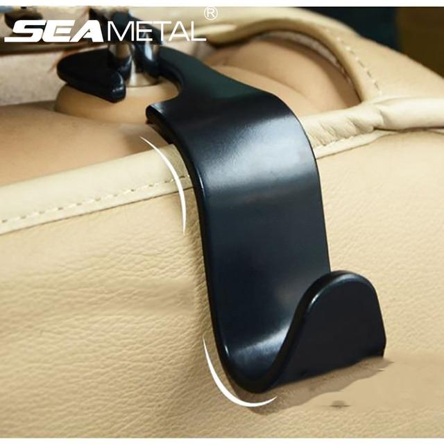 Car Seat Back Hooks Vehicle Headrest Hanger Holder Hook Universal Mount Storage Internal Fastener
