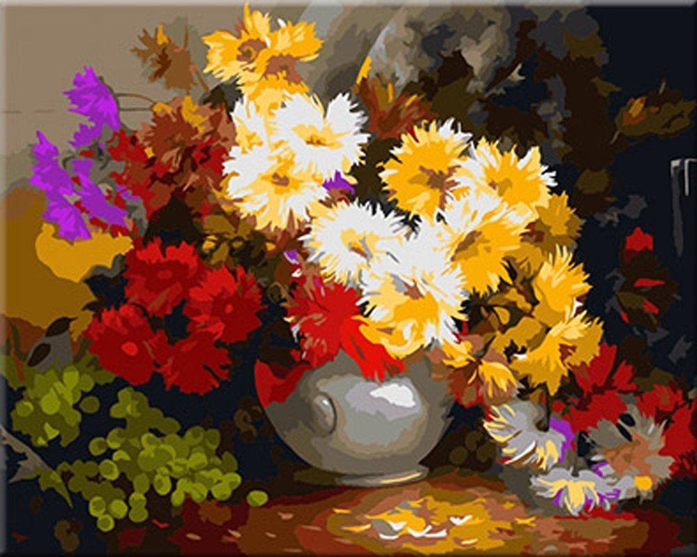 100 dipinto a mano di arte della parete dipinti ad olio for Fiori dipinti a olio