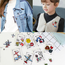 Hot Sale Children Jewelry Gift Clothing Ornament Creative Fashion Cartoon Brooches Set High Quantity Women Pin Badge