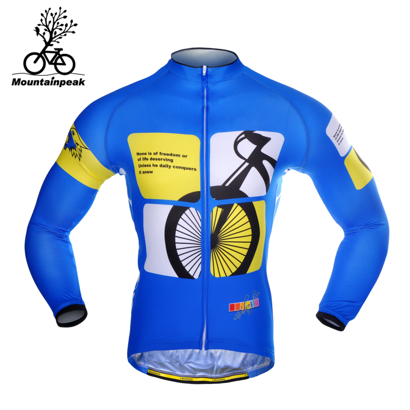 Mountainpeak Cycling Jerseys Men Long Sleeve Mountain Bike Riding Jacket Leisurely