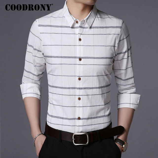 Business Casual Striped Long Sleeve Shirt 3