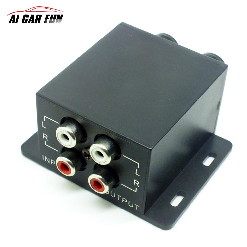 Авто сабвуфер Мощность автомобиля Усилители домашние аудио регулятор bass эквалайзер кроссовер контроллер RCA отрегулировать линейного уровня громкости дома Применение