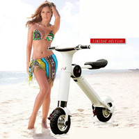 New ET Folding electric bicycle two wheel balance intelligent electric car foldable motorcycle scooter