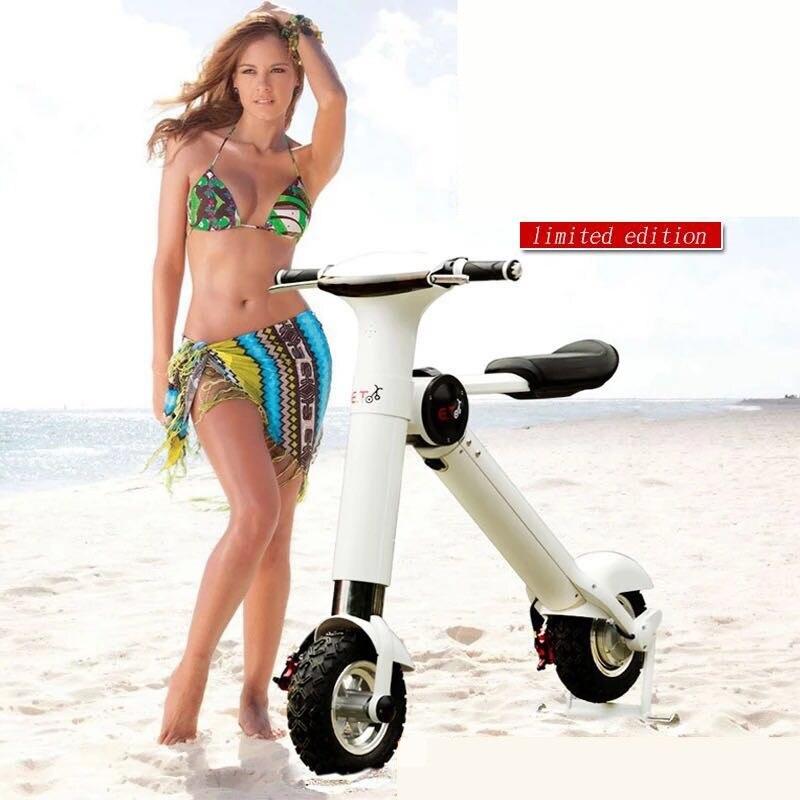 Nouveau ET pliant vélo électrique deux roues balance intelligente voiture électrique pliable moto scooter