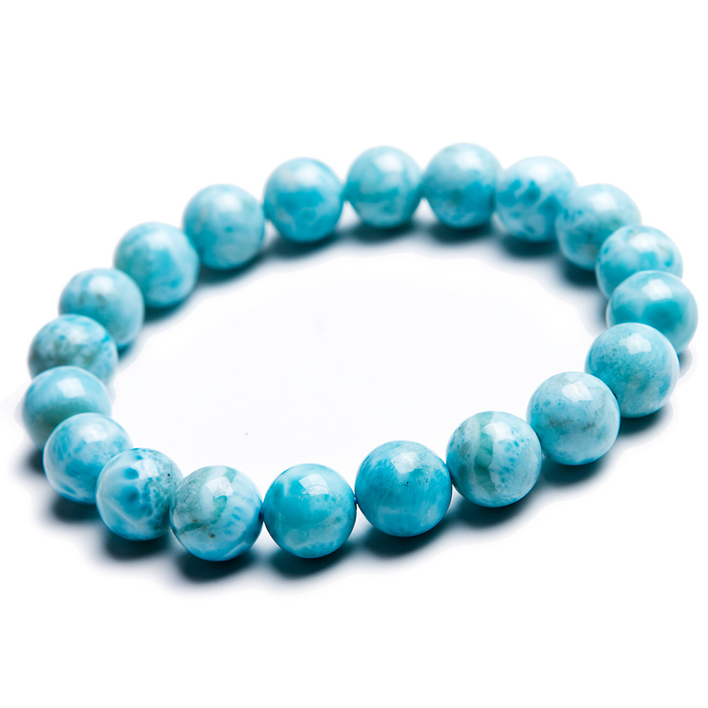 10mm Natural Larimar Blue Beads Bracelet From Dominica Gemstone Healing Stretch Water Pattern AAAAAA10mm Natural Larimar Blue Beads Bracelet From Dominica Gemstone Healing Stretch Water Pattern AAAAAA