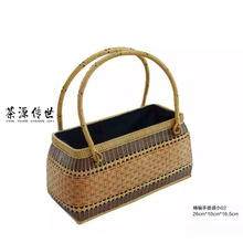 Chayuanchuanshi  multifunction portable women basket bag Hand Woven Rattan Wicker Baskets Nature Storage Vintage Handmade Wicker