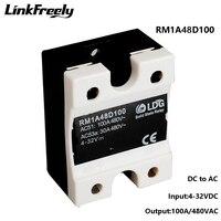 RM1A48D100 2SCR تتابع الحالة الصلبة DC AC 100A ، إخراج: 42 530VAC المدخلات: 5V 12V 24V DC SSR التتابع ، لينة بدءا تتابع لوحة توزيع-في المرحلات من تجميل المنزل على