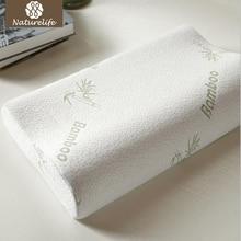 Naturelife бамбуковое волокно Подушка с эффектом памяти подушки здоровые дышащие ортопедические подушки для шеи облегчение усталости Прямая поставка