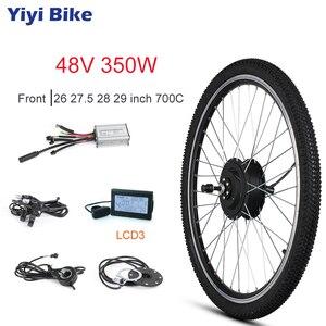 48 v 350 w de alta velocidade sem escova motor do cubo da engrenagem kit de conversão bicicleta elétrica e-bike roda do motor dianteiro 26