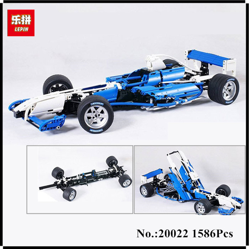 IN STOCK Lepin 20022 1586pcs Genuine Technic Series The Williams F1 Team Racer Set Educational Building Blocks Bricks Toys in stock lepin 21021 953pcs genuine technic series the camel fighter set children building blocks bricks educational toys model
