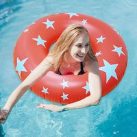 2018 New Colorful Star Print Inflatable Tube Swim Ring for Adults Kids Five pointed star Safety Swim Circle Water Play Equipment