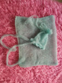 Hand Knit Mohair Wrap With Bonnet (Complete set of sale) Newborn Photography Props