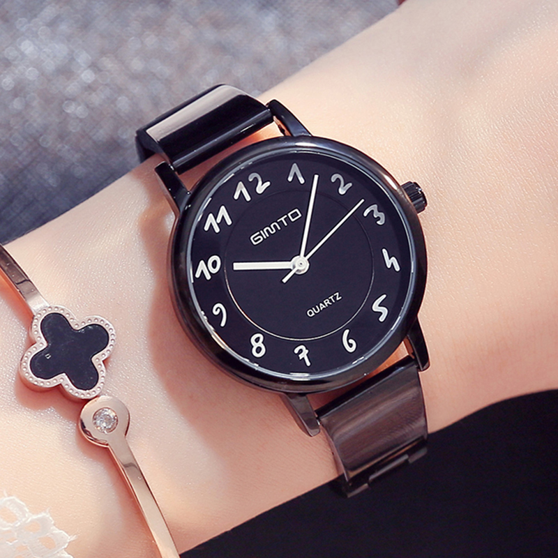 GIMTO Brand 2017 Fashion Women Watches Steel Clock Creative Ladies Watch Casual Female Quartz Wristwatch Relogio Feminino Montre selenga t71