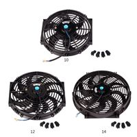 Universal Car Radiator 10inch 12inch 14inch Fan Slim Push Pull Electric Engine Cooling Fan 12V